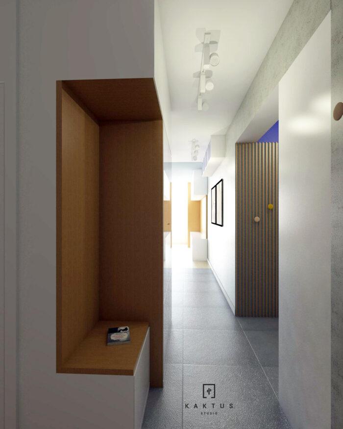 Aranżacja holu - mieszkanie II 1