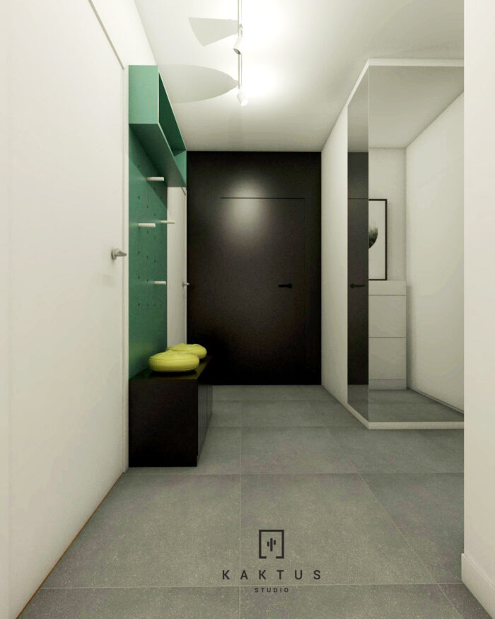 Aranżacja holu - mieszkanie IV 1