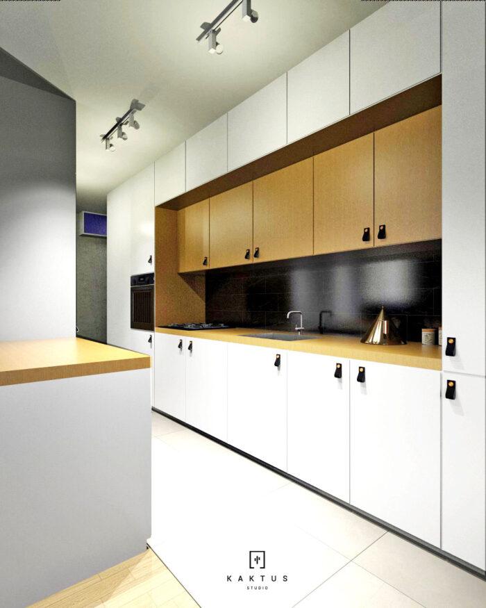 Aranżacja kuchni - mieszkanie II 1