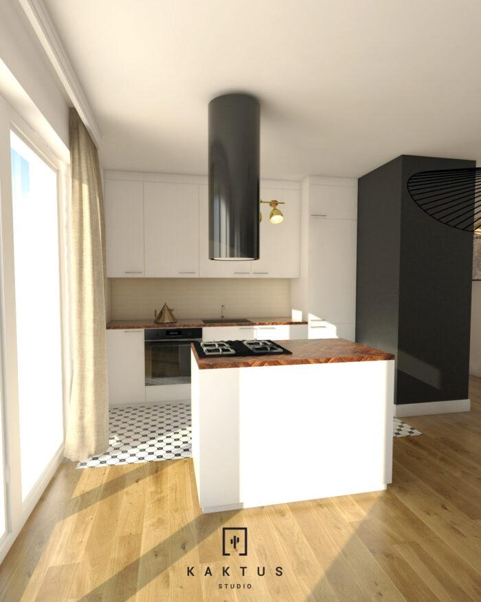 Aranżacja kuchni - mieszkanie III 1