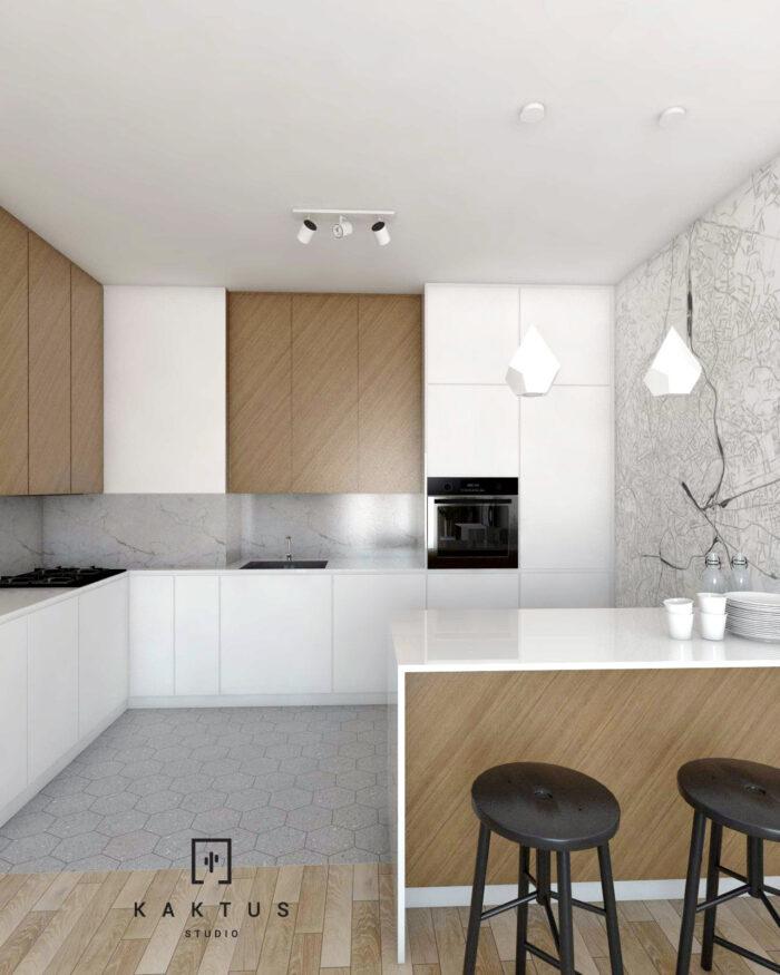 Aranżacja kuchni - mieszkanie V 1