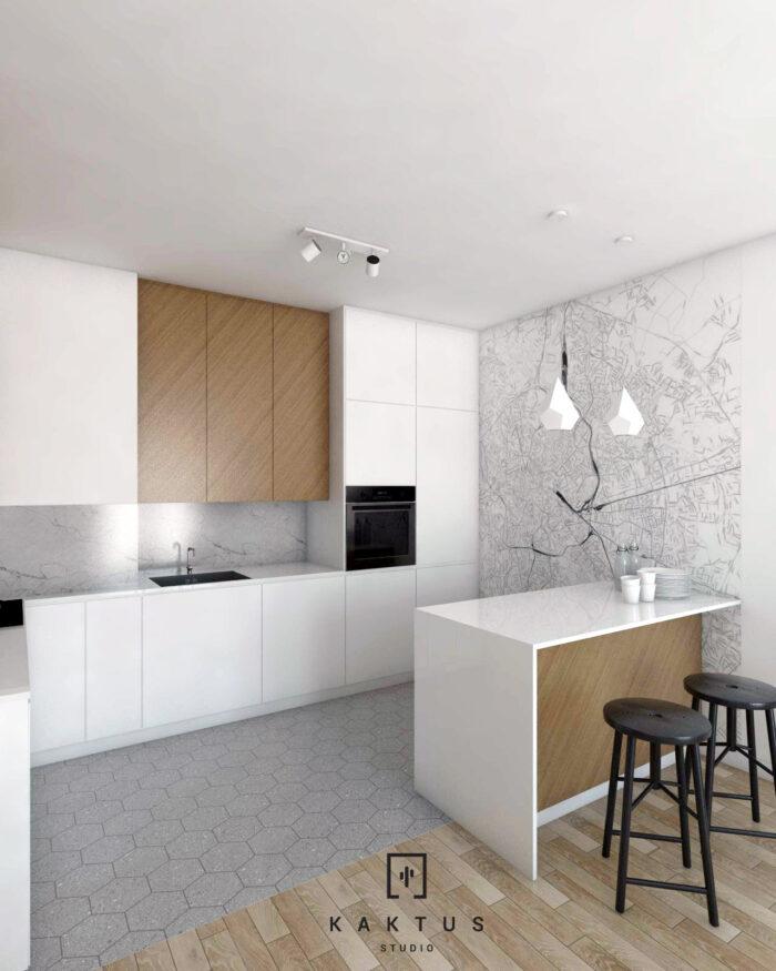 Aranżacja kuchni - mieszkanie V 4
