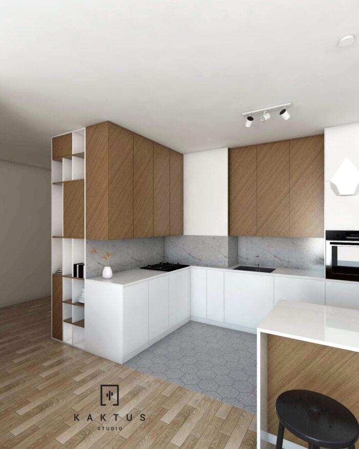 Aranżacja kuchni - mieszkanie V 5