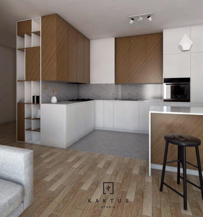 Aranżacja kuchni - mieszkanie V 3