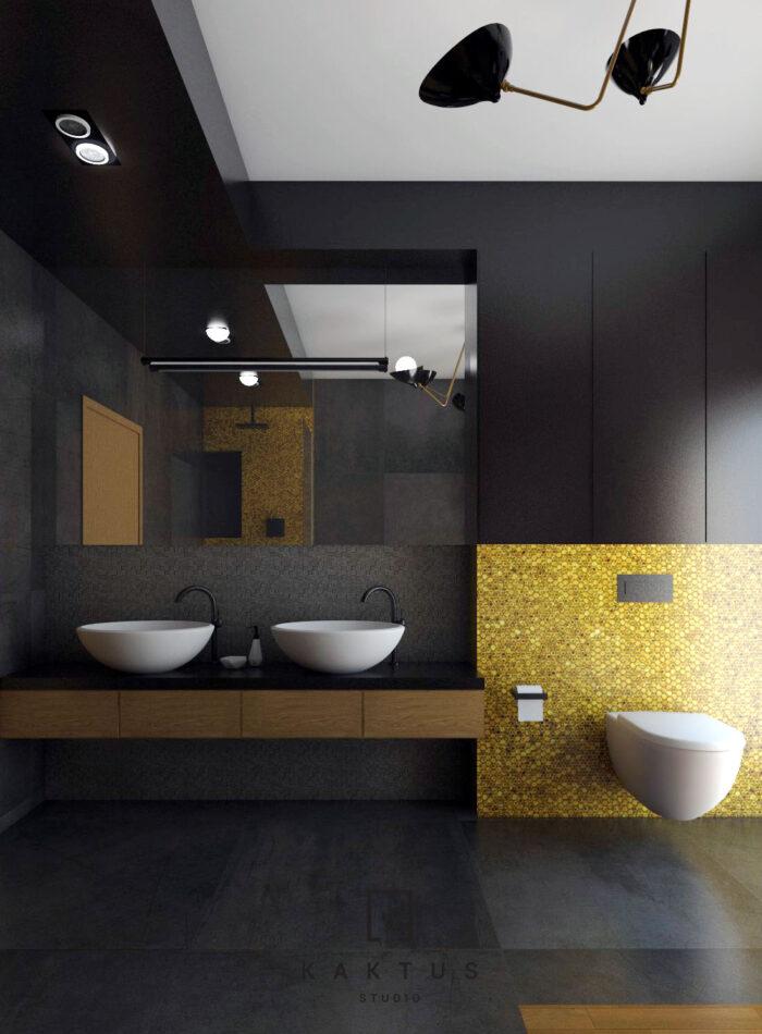 Aranżacja łazienki - dom I 1