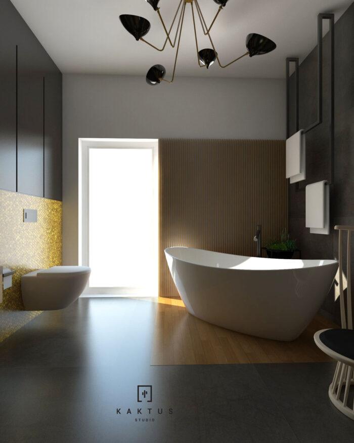 Aranżacja łazienki - dom I 10