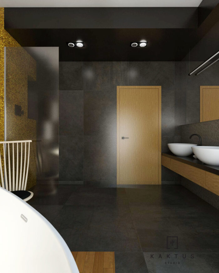 Aranżacja łazienki - dom I 12