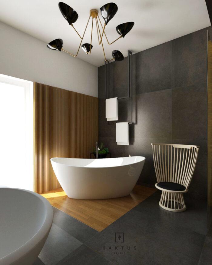 Aranżacja łazienki - dom I 5