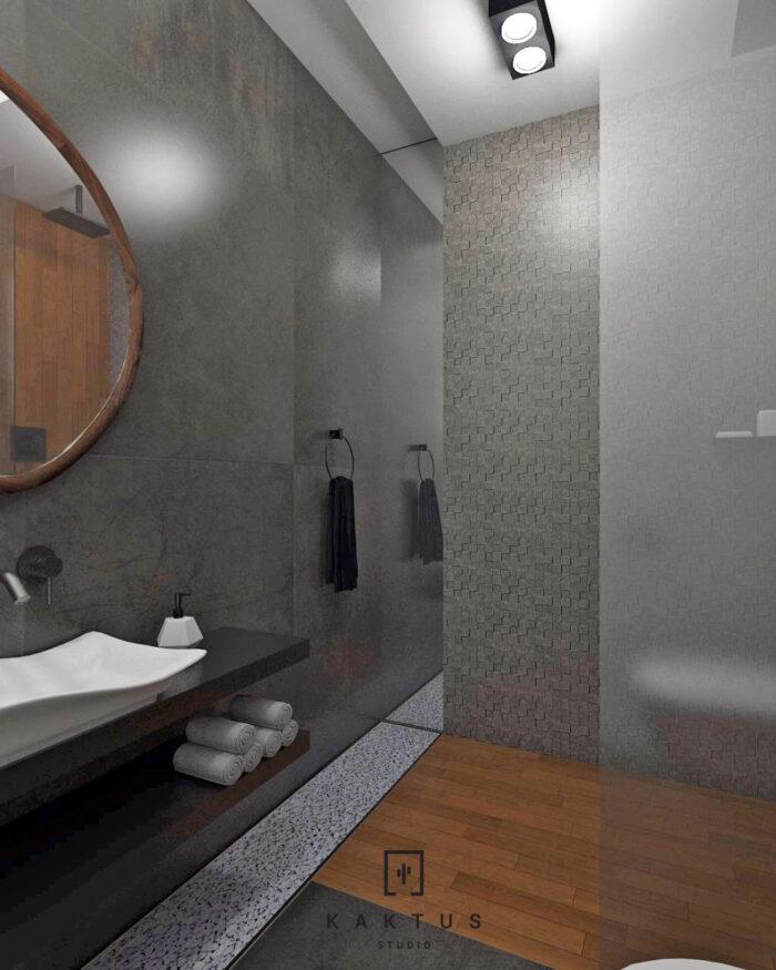 Aranżacja łazienki - dom I 9