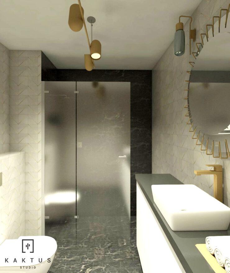 Aranżacja łazienki - mieszkanie I 1