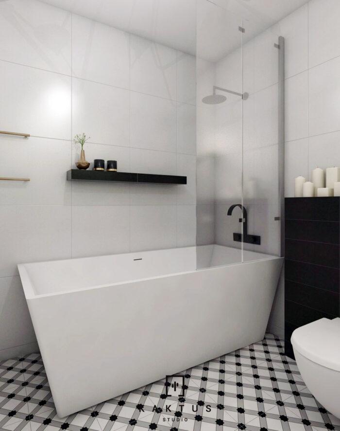 Aranżacja łazienki - mieszkanie III 1
