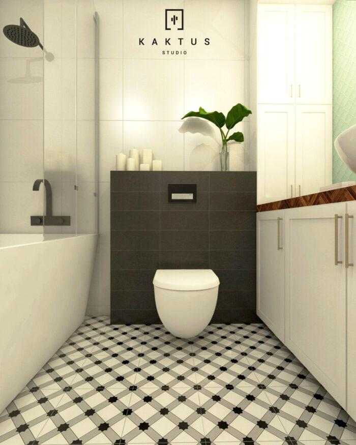 Aranżacja łazienki - mieszkanie III 2