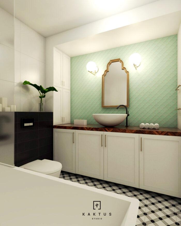 Aranżacja łazienki - mieszkanie III 3