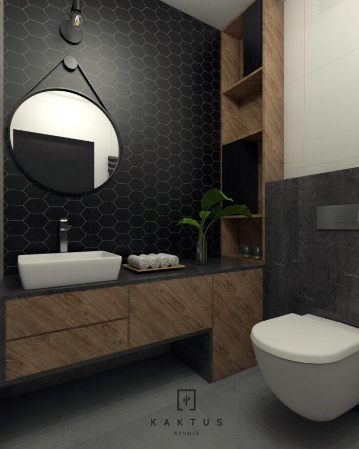 Aranżacja łazienki - mieszkanie IV 1