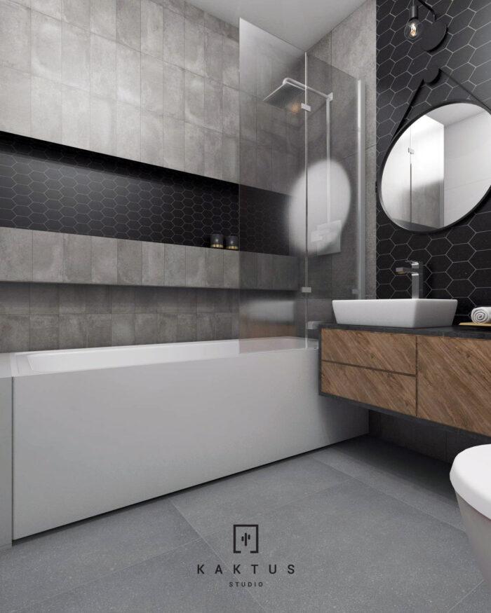 Aranżacja łazienki - mieszkanie IV 2
