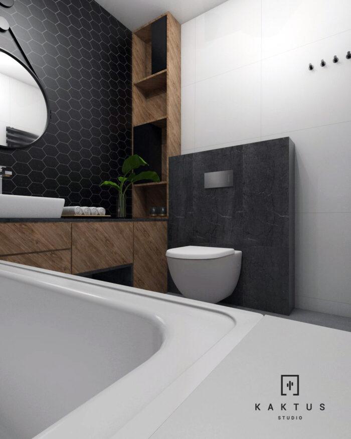 Aranżacja łazienki - mieszkanie IV 3