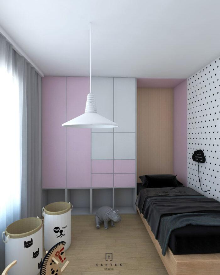 Aranżacja pokoju - mieszkanie II 1