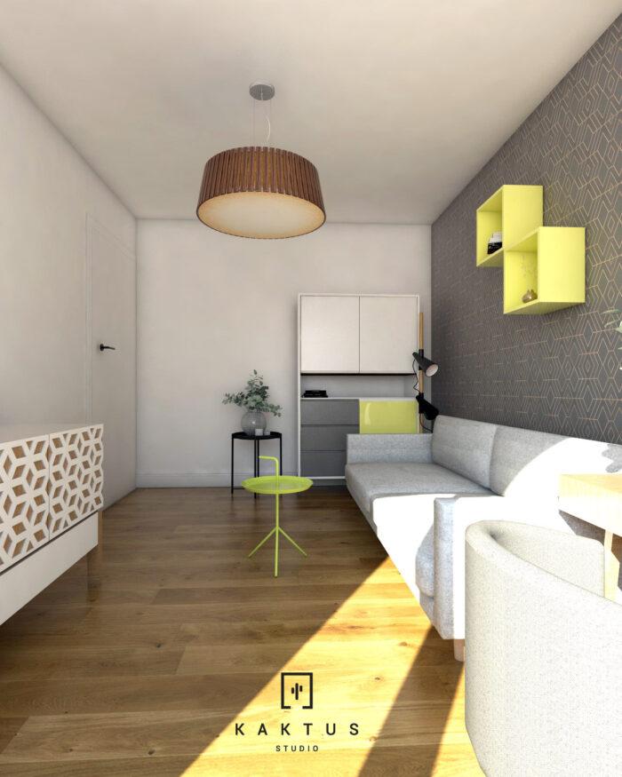 Aranżacja pokoju - mieszkanie III 1