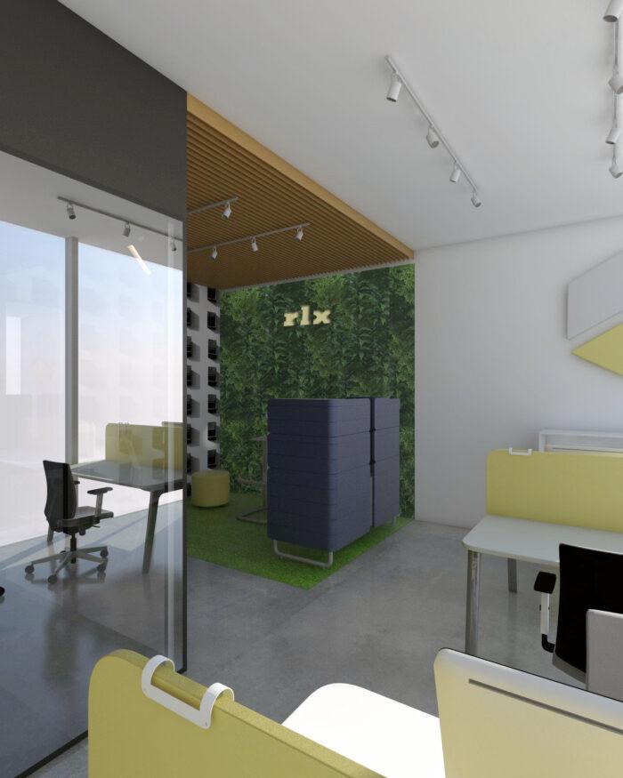 Aranżacja przestrzeni biurowej I 5