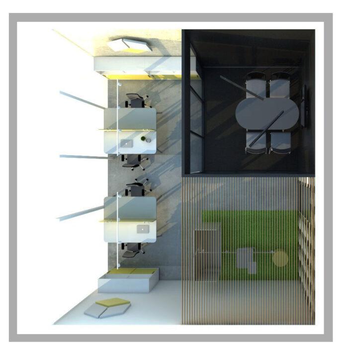 Aranżacja przestrzeni biurowej I 6