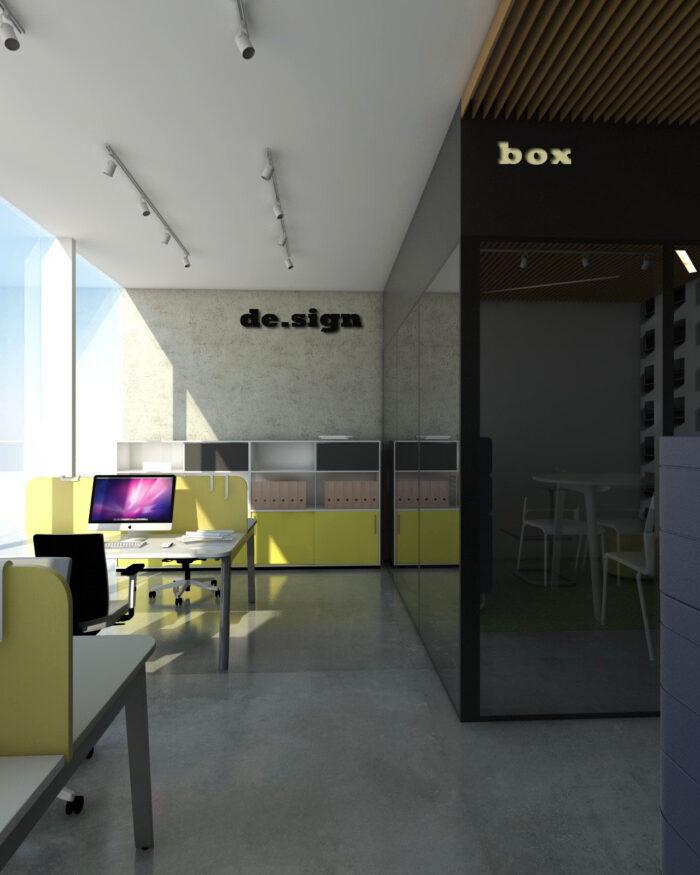 Aranżacja przestrzeni biurowej I