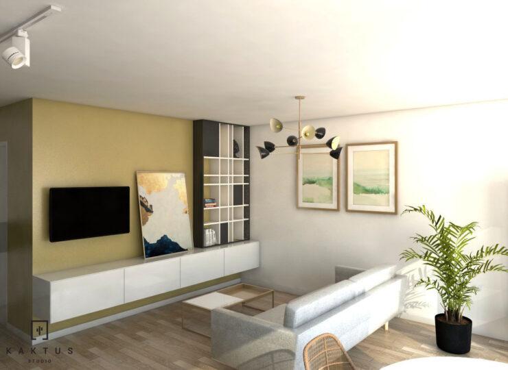 Aranżacja salonu - mieszkanie I 1