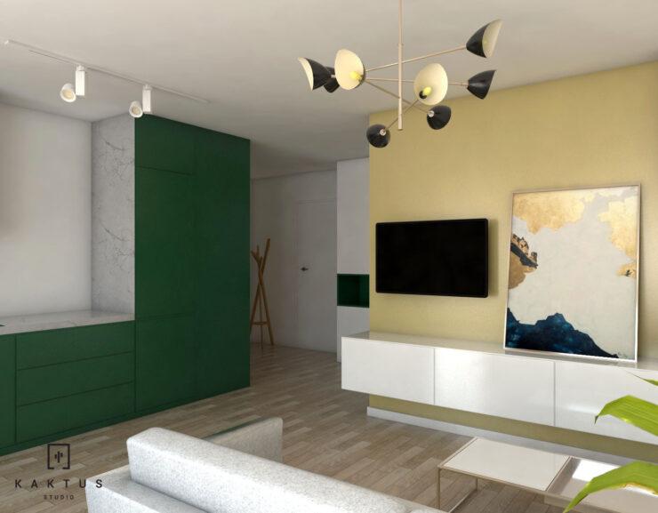 Aranżacja salonu - mieszkanie I 2