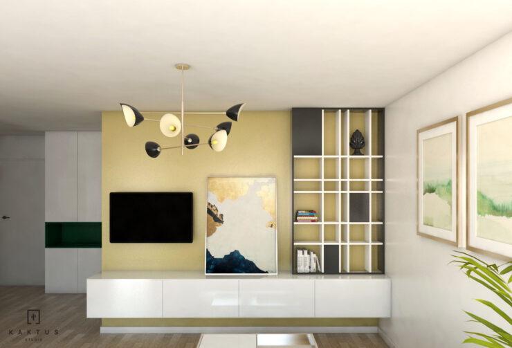 Aranżacja salonu - mieszkanie I 3