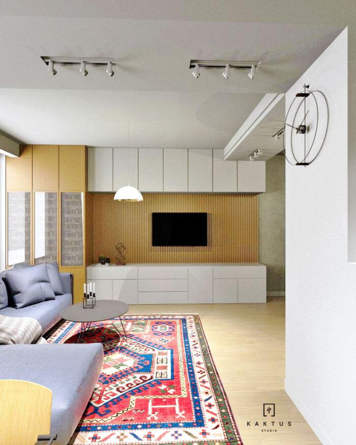 Aranżacja salonu - mieszkanie II 3