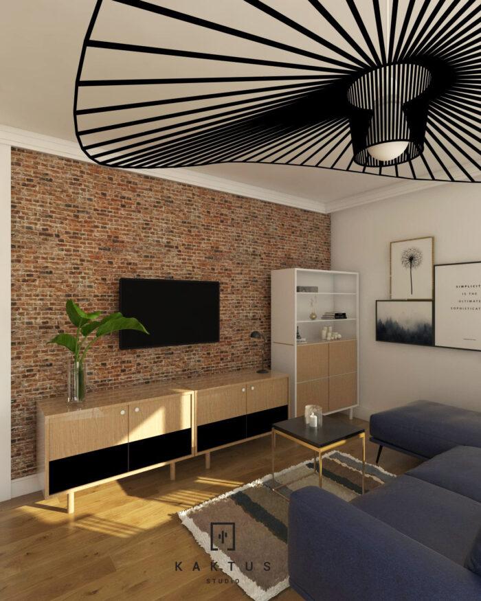 Aranżacja salonu - mieszkanie III 2
