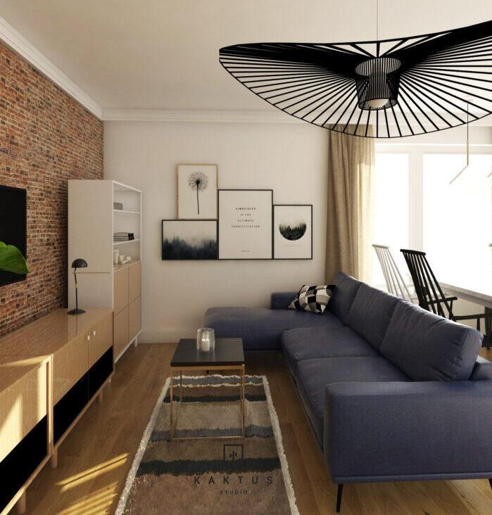 Aranżacja salonu - mieszkanie III 1