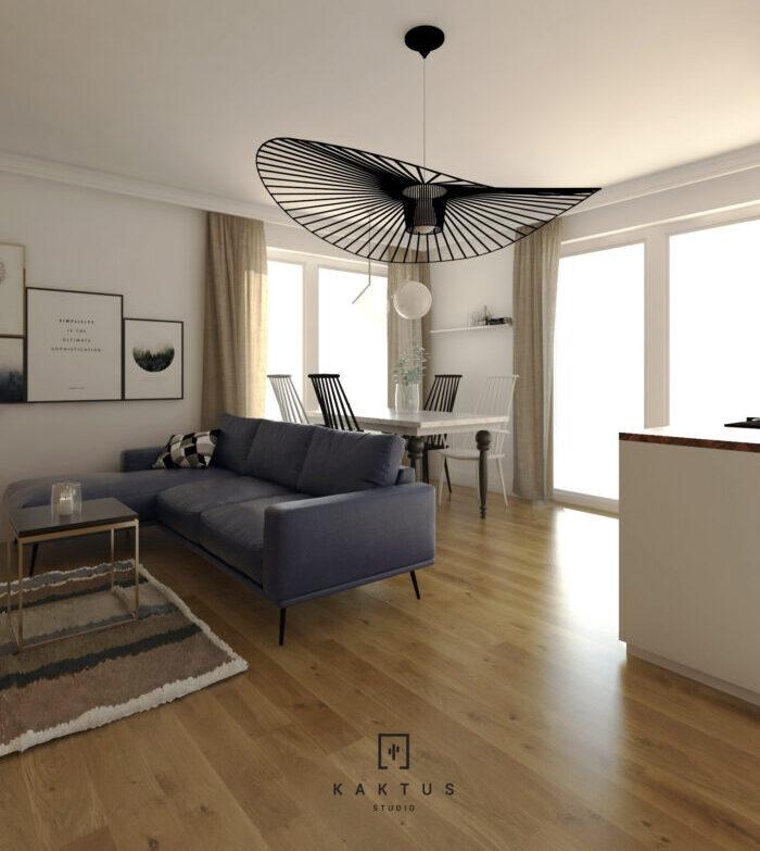 Aranżacja salonu - mieszkanie III 3