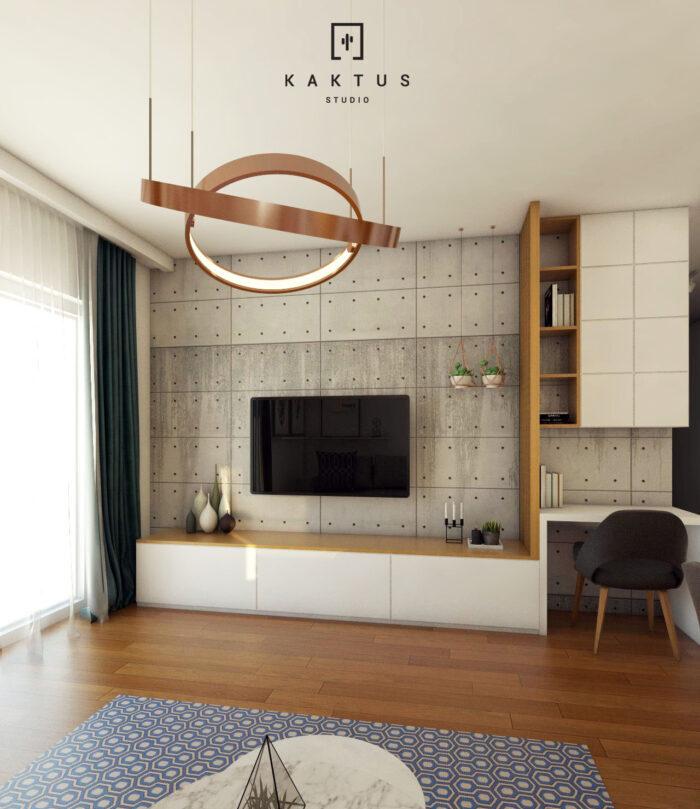 Aranżacja salonu - mieszkanie IV 1
