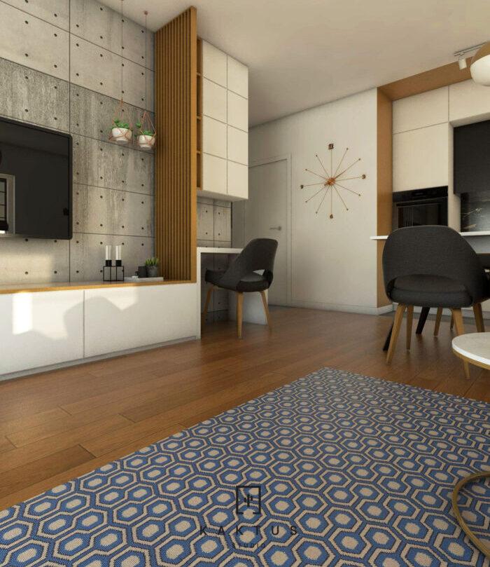 Aranżacja salonu - mieszkanie IV 3