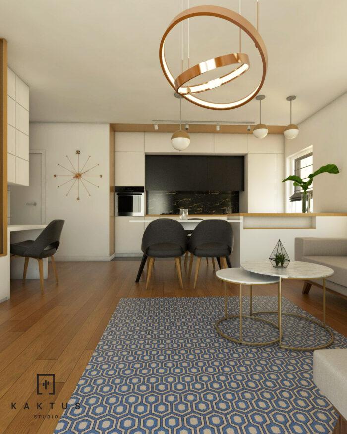 Aranżacja salonu - mieszkanie IV 4