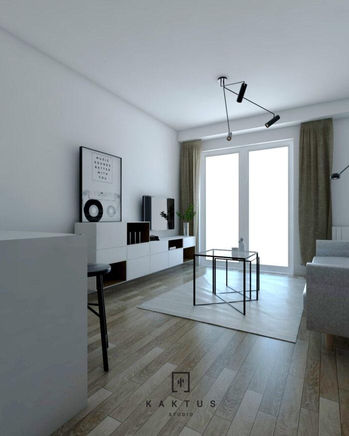 Aranżacja salonu - mieszkanie V 1