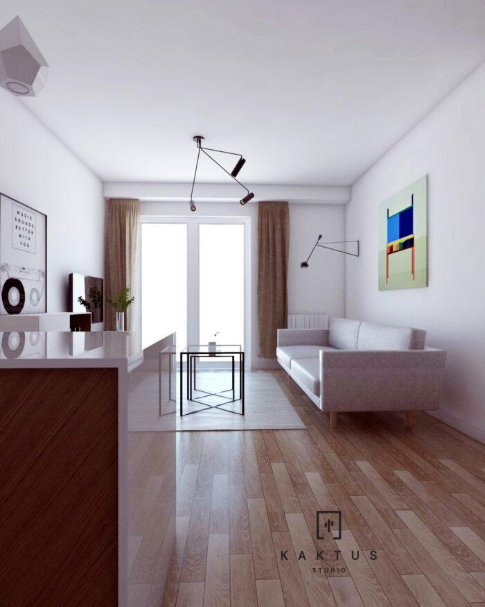 Aranżacja salonu - mieszkanie V 2