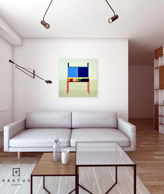 Aranżacja salonu - mieszkanie V 3