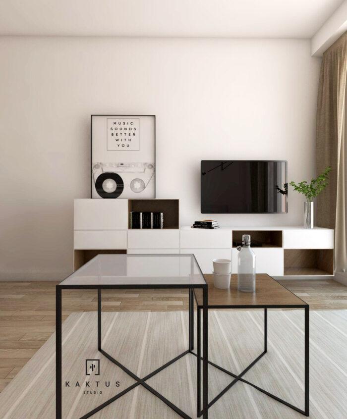 Aranżacja salonu - mieszkanie V 4