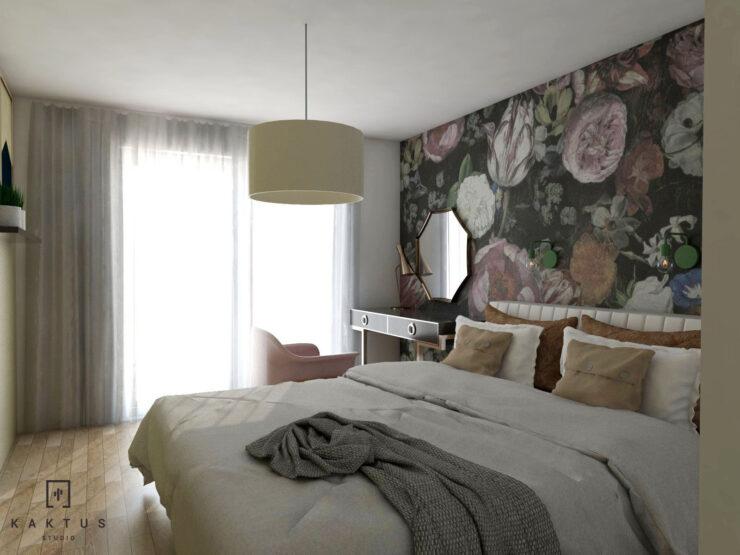 Aranżacja sypialni - mieszkanie I 1