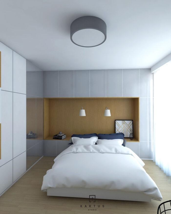 Aranżacja sypialni - mieszkanie II 1