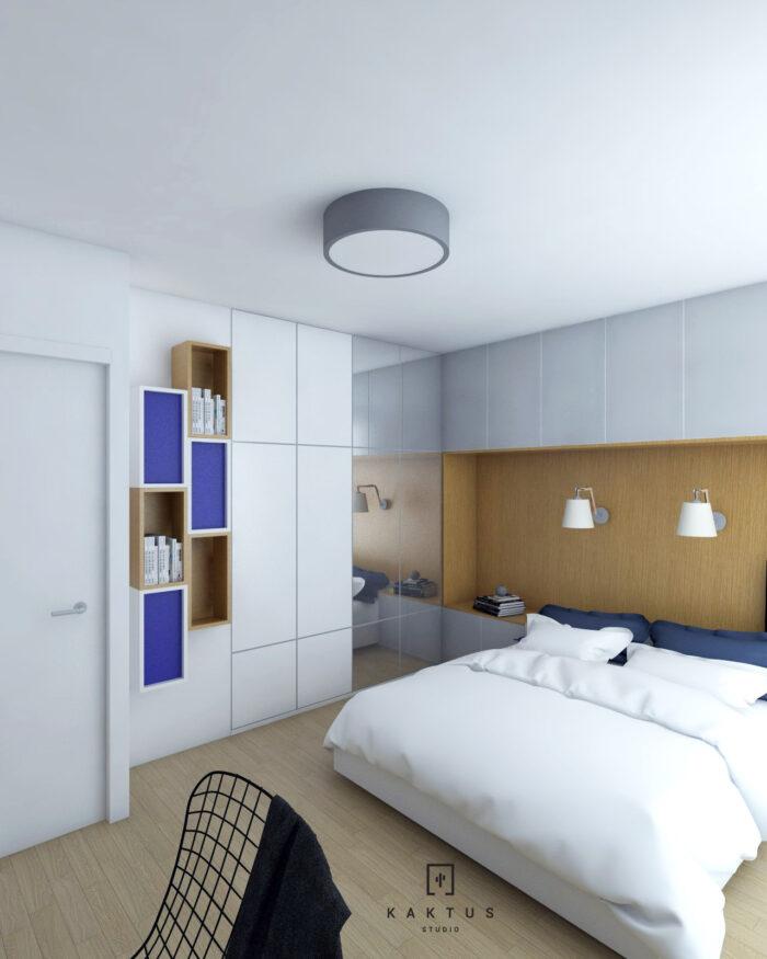 Aranżacja sypialni - mieszkanie II 2