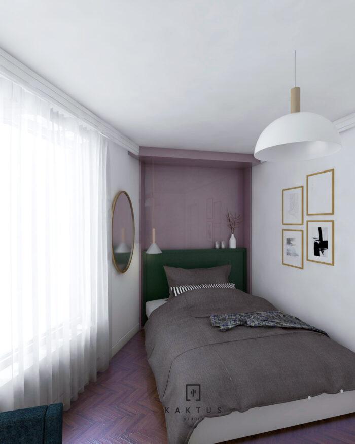 Aranżacja sypialni - mieszkanie III 1