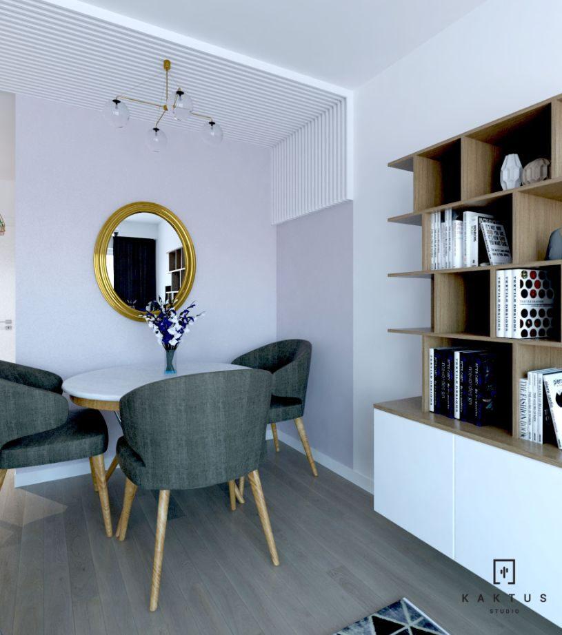 aranżacja salonu 2 mieszkanie 4